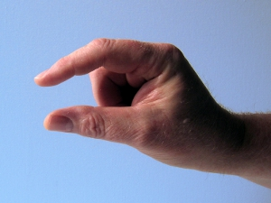 Hand: Darmkrebsrisiko verringern